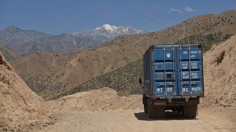 Kamaz truck at a pass.