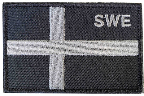 Svensk Flagga SWE med kardborre