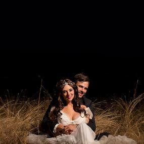 Night Photography by Nici Pelser - Wedding Bride & Groom