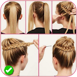Easy braid hairstyle tutorials Icon