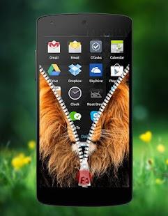 Lion Zipper Lock screenshot