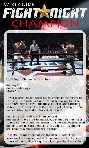 Guide for Fight Night Champion