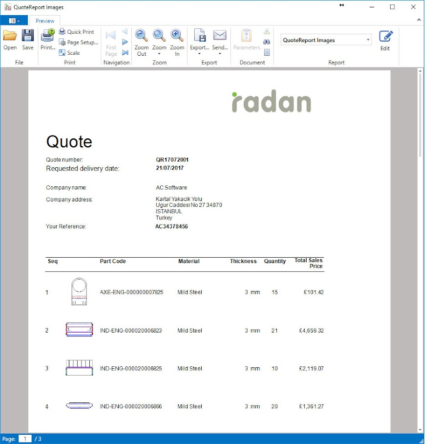 RADAN Radquote