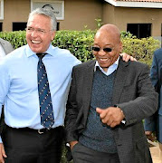 Gavin Watson with then president Jacob Zuma on a visit to Bosasa's Krugersdorp headquarters in April 2015. File photo.