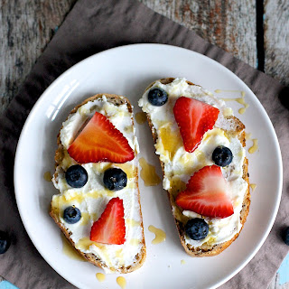 Berry and Ricotta Toast.