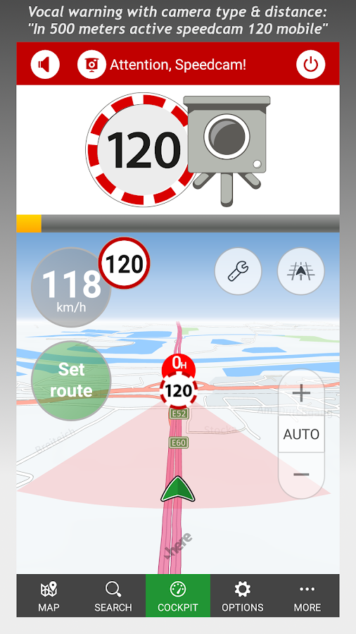 POIbase speed camera warner- screenshot