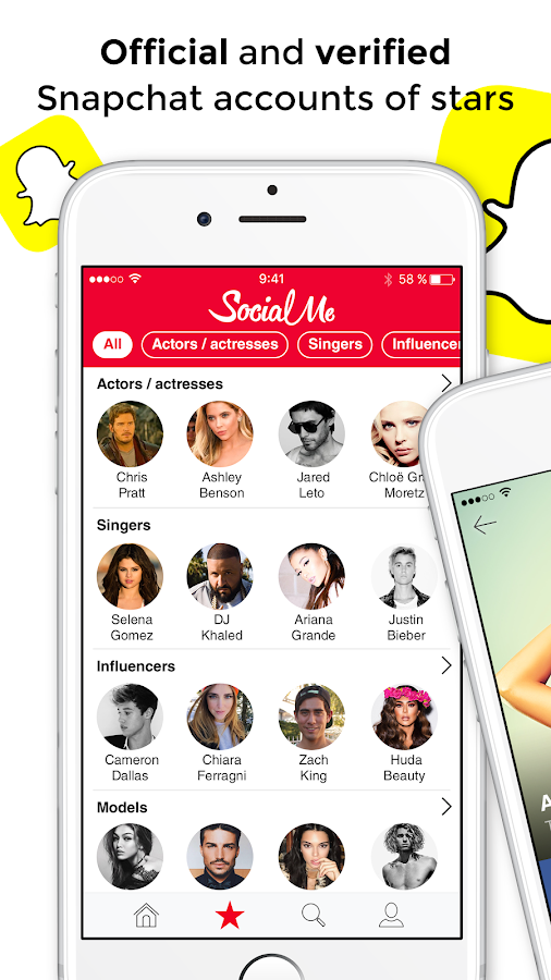 Social Me - Stars, influencers & followers app- screenshot