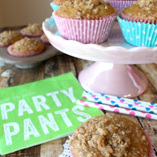 Strawberry Banana Crumb Muffins