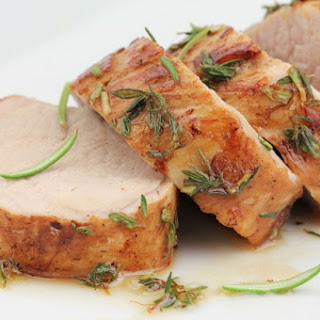 Slow Cooker Honey Seared Pork Tenderloin.