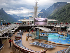 Photo: If you're getting too cold on deck, you can always watch the view from the hot tub!
