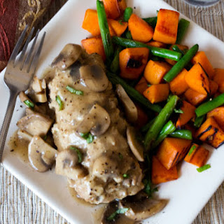 Mini Cheese Stuffed Turkey Meatloaves with Mushroom Gravy