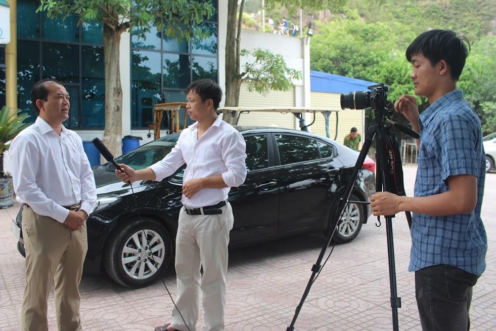 Ông Trần Quốc Lâm trả lời phỏng vấn Báo Công an Nghệ An