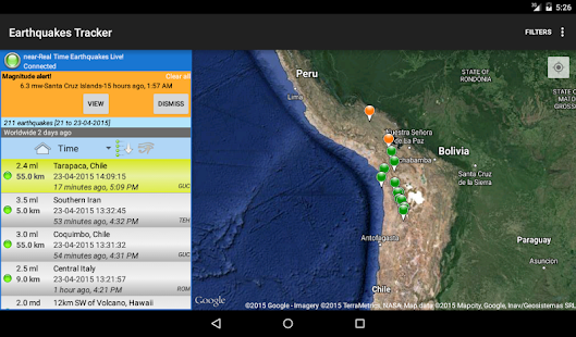 Earthquakes Tracker- screenshot thumbnail