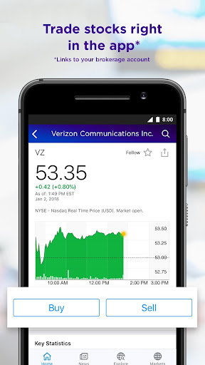 Yahoo Finance: Real-Time Stocks & Investing News screenshot