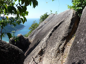 Photo: Ko Phangan - Bottle beach, trail to viewpoint, in last part very carefull walking on the edge of rock
