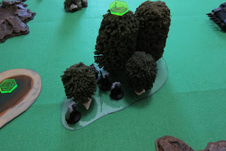 Photo: Dark Angel Snipers deploy into mysterious terrain! The woods turn out to be Ironwood trees, improving cover for anyone within.