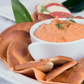 Roasted Red Pepper Dip Recipe with Pesto