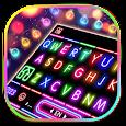 Sparkle Neon Lights Keyboard Theme