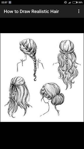How to Draw Realistic Hair  screenshots 7