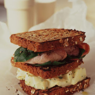 Egg Salad Sandwiches with Bacon and Spinach