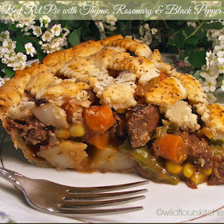 Tender Beef Pot Pie with Thyme, Rosemary & Black Pepper Pastry