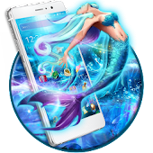 Blue Sea Mermaid Launcher Theme
