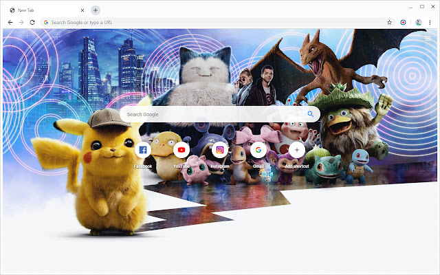 New Tab - Pokémon Detective Pikachu
