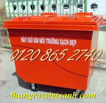 Thùng rác 660L composite
