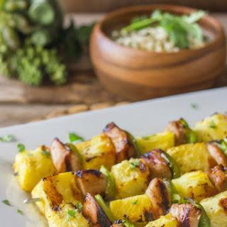 Tasty Grilled Teriyaki Chicken and Pineapple Kebabs