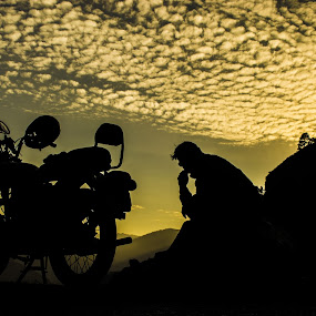 Heavenly Thinking  by Akash Deep - Transportation Motorcycles