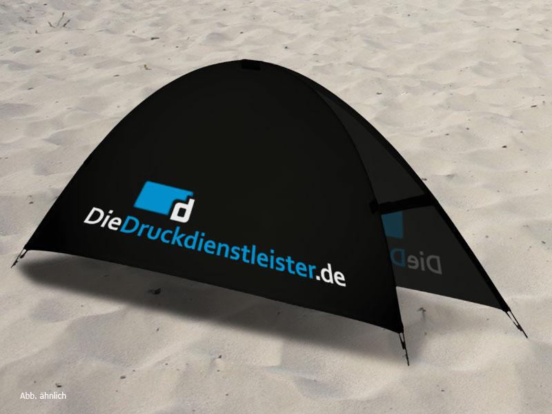 Photo: Strand-Banner für Bodenaufstellung und Logo-Druck