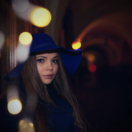 Evening in Prague by Michaela Firešová - People Portraits of Women ( night, female, portrait )
