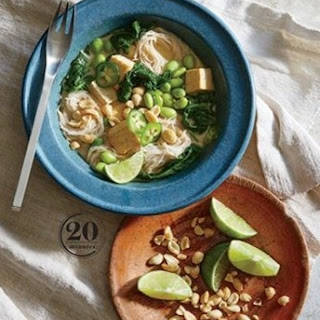 Weight Watchers Tofu And Edamame Noodle Bowl With Caramelized Coconut Broth