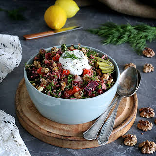 Russian Style Quinoa Salad with Winter Vegetables.