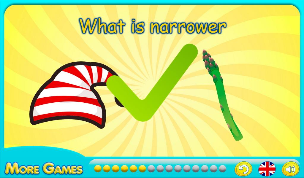 Educational games: wide narrow- screenshot