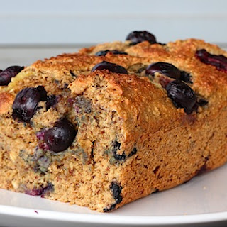 Healthy Blueberry Banana Bread-Cake