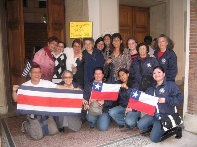 Delegación Chilena que asistió a la Canonización