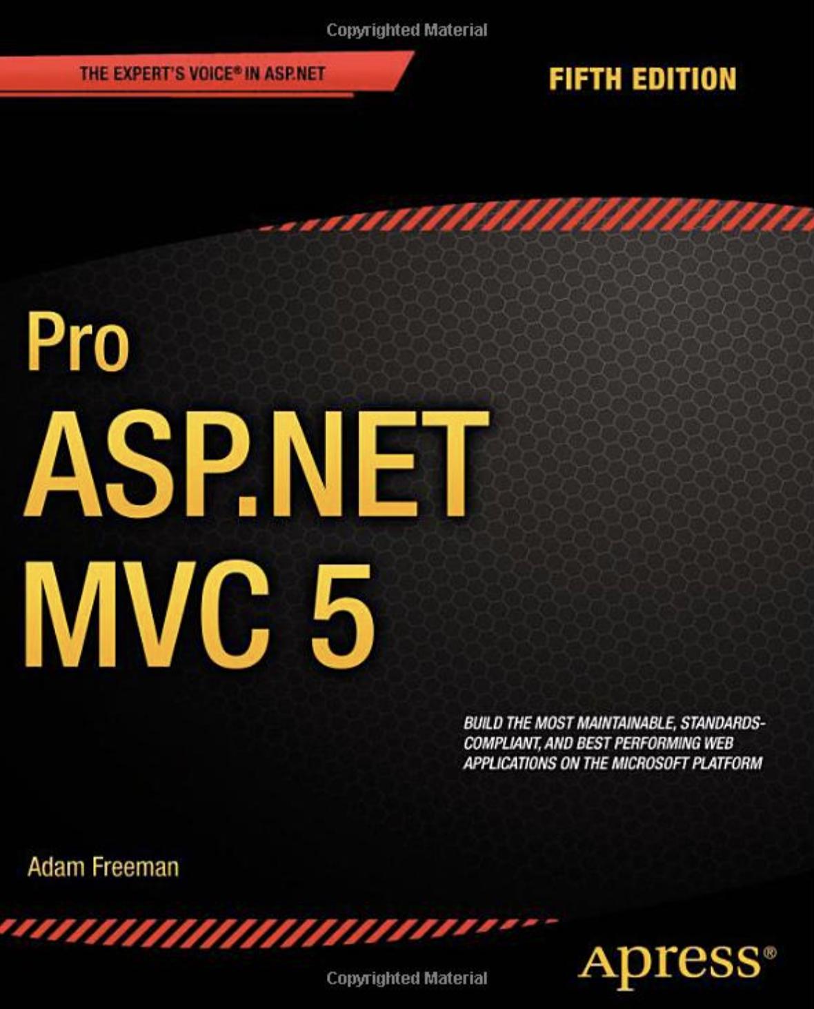Cover of Pro ASP.NET MVC 5
