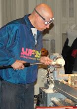 Photo: Making shavings...