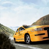 Crazy Hill Speed Taxi Driving 3D
