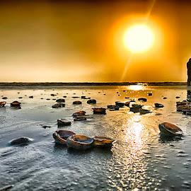Sippies by Abdul Rehman - Instagram & Mobile iPhone ( sand, pakistan, gwadar, silhouette, sunset, baluchistan,  )