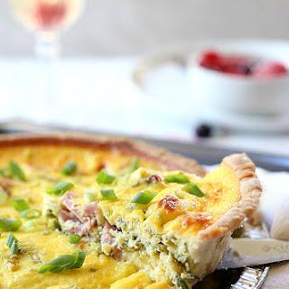 Healthy Kale + Ham Greek Yogurt Quiche Recipe (Cheeseless) Recipe