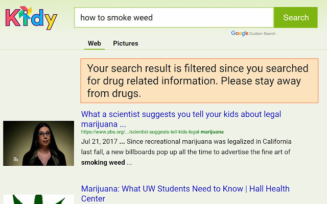 Kidy: Safe search engine for kids