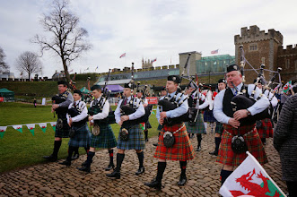 Photo: Pipers in the castle
