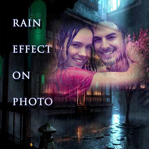 rain effect photo editor & frames icon