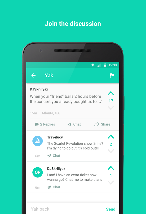 Yik Yak - Your Local Feed- screenshot