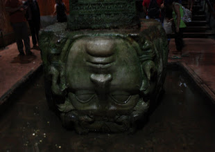 Photo: Day 114 - One of the Medusa Heads in the Basilica Cistern