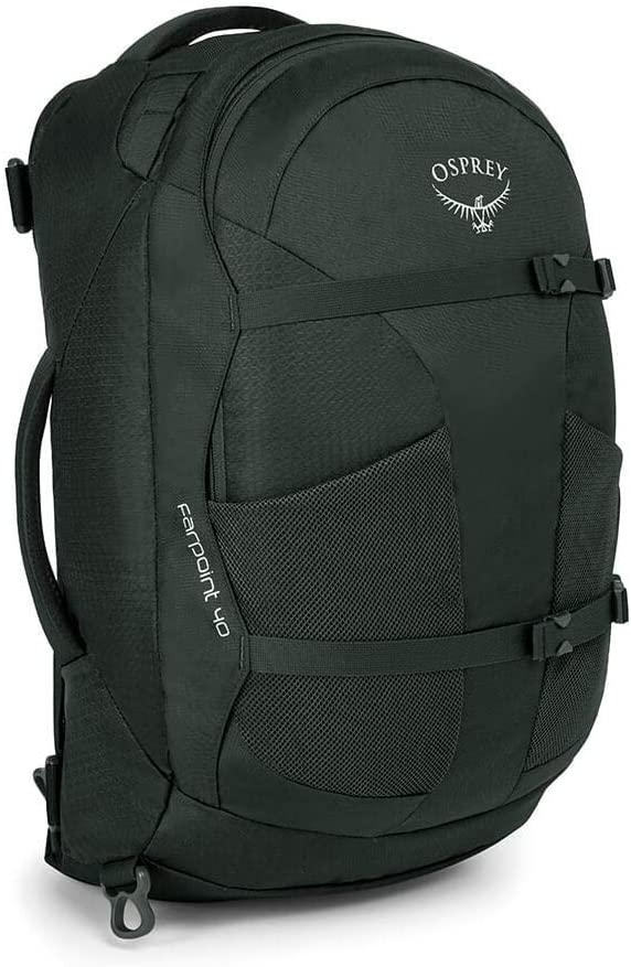 Black backpack for digital nomads