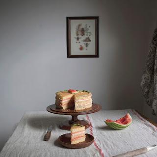 Watermelon Sponge Cake