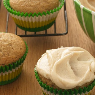 Applesauce Cupcakes with Browned Butter Frosting.